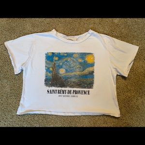 Van Gough Starry Night Crop Top